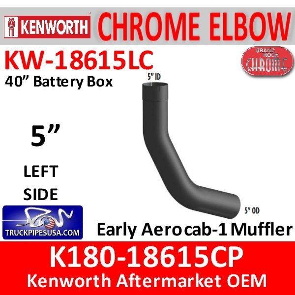 K180-18615CP Kenworth Chrome Left 5
