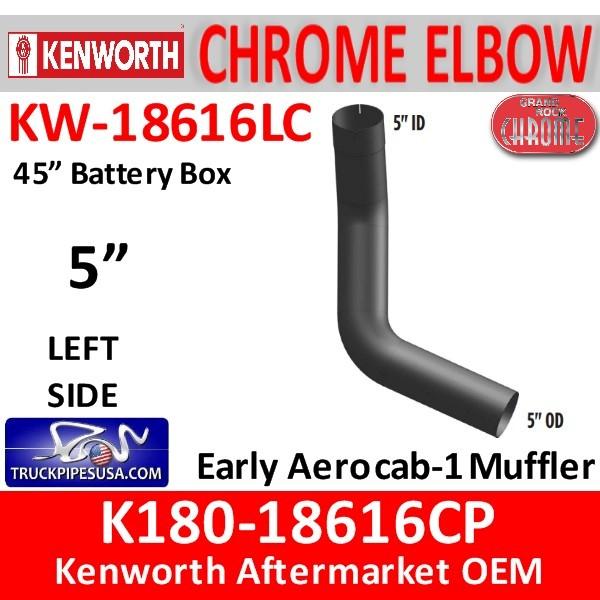 K180-18616CP Kenworth Chrome Left 5