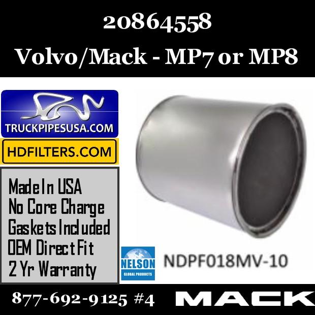 20864558 Volvo/Mack DPF for MP7/MP8 Engine