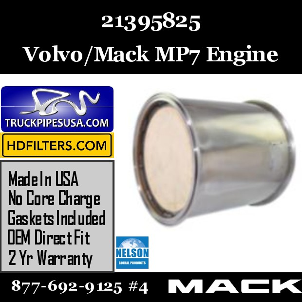 21395825 Volvo/Mack DPF for MP7 Engine