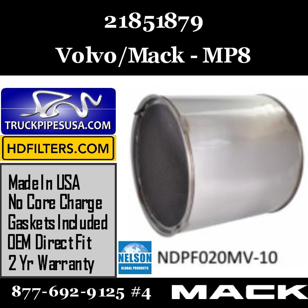 21851879 Volvo/Mack DPF for MP8  Engine