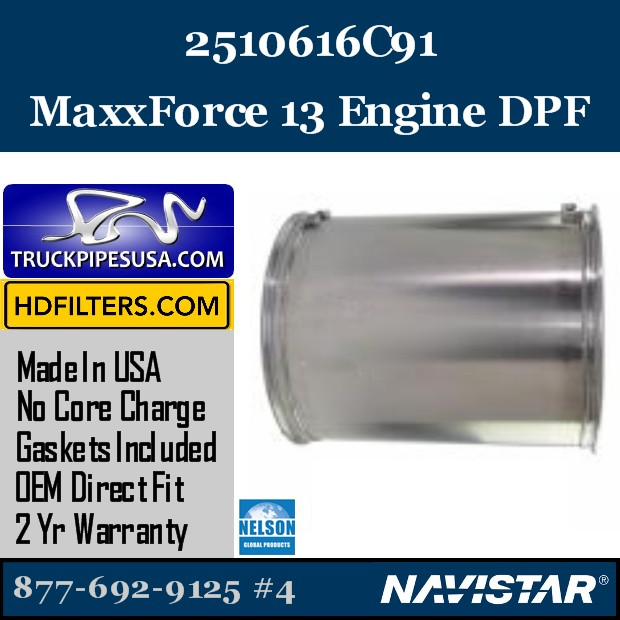 2612521C91 Navistar MaxxForce 9-10 Engine DPF
