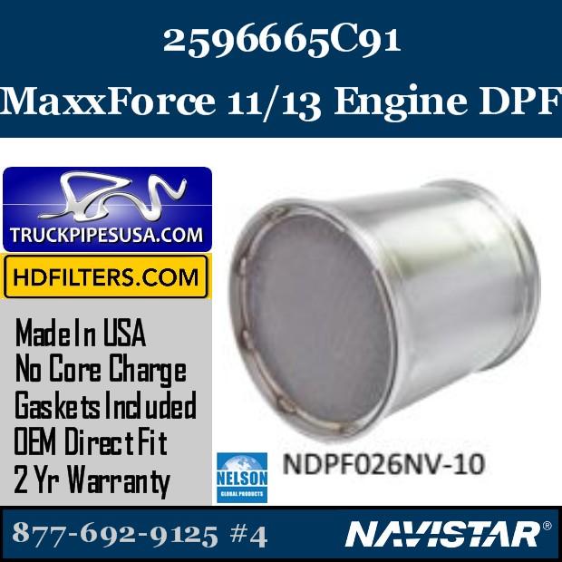 2594131C91 Navistar MaxxForce 7-DT Engine DPF
