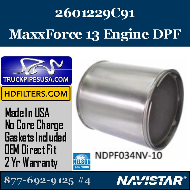 2594131R91 Navistar MaxxForce 7-DT Engine DPF