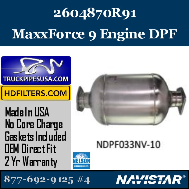 82003341 Navistar MaxxForce 7-DT Engine DPF