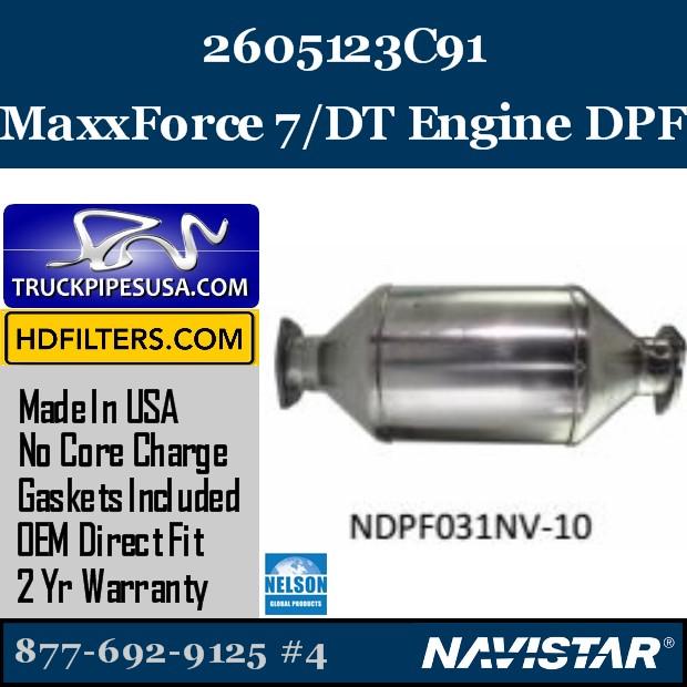 2604873C91 Navistar MaxxForce 7-DT Engine DPF