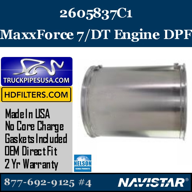 5010847R91 Navistar MaxxForce 7-DT Engine DPF