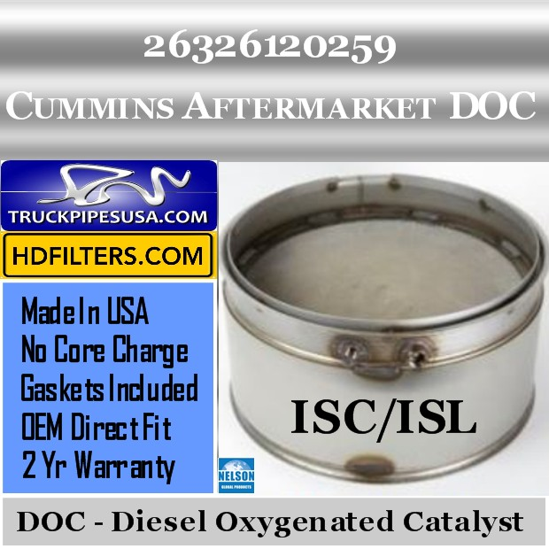 26326120259 Cummins ISC/ISL Engine Diesel Oxygen Catalyst DOC