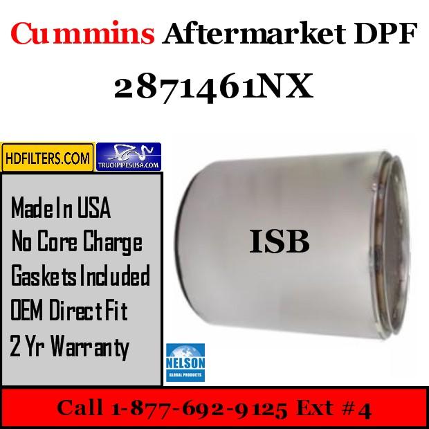 2871461NX Cummins ISB Engine Diesel Particulate Filter DPF