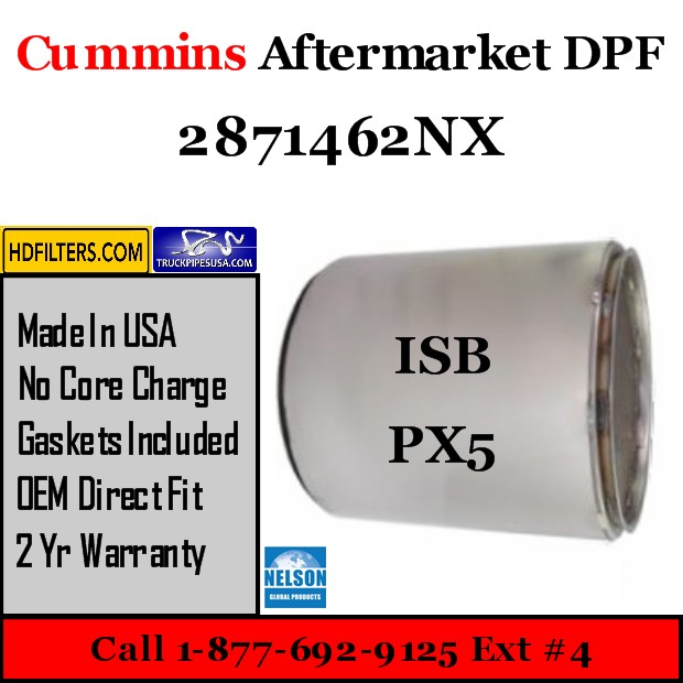 2871462NX Cummins/Paccar ISB/PX5 Engine Diesel Particulate Filter DPF