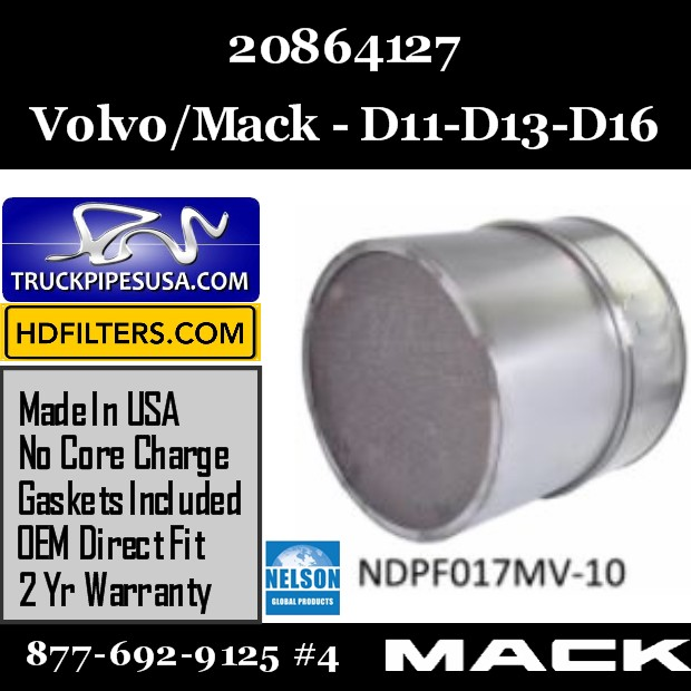 20864127 Volvo/Mack DPF for D11 / D13 / D16 Engine