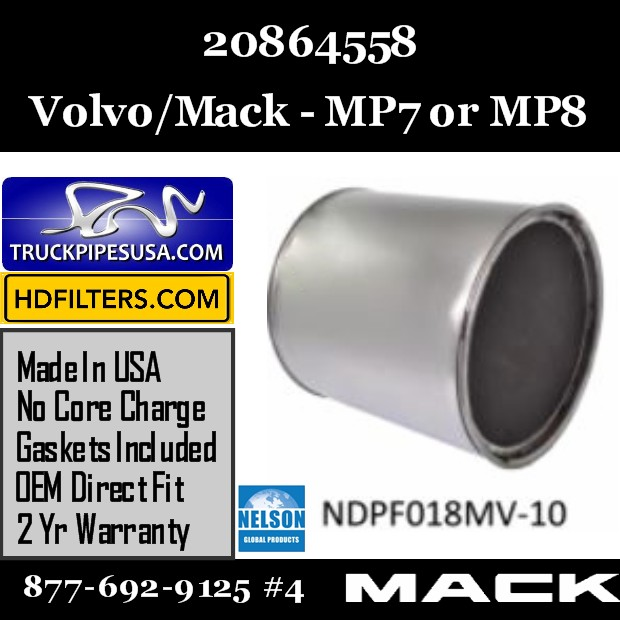 20864558 Volvo/Mack DPF for MP7/MP8 Engine