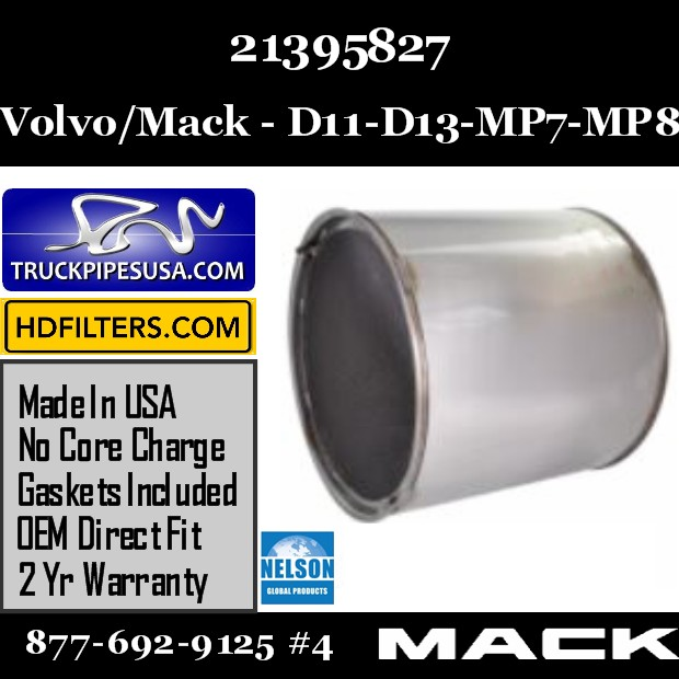 21395827 Volvo/Mack DPF for D11 / DD13 / MP7 / MP8 Engine