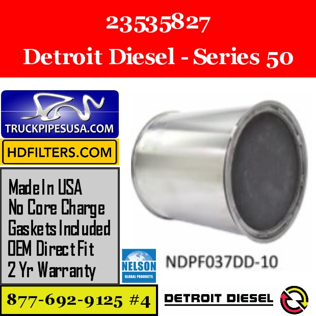 23535827 Detroit Diesel Series 50 Engine DPF