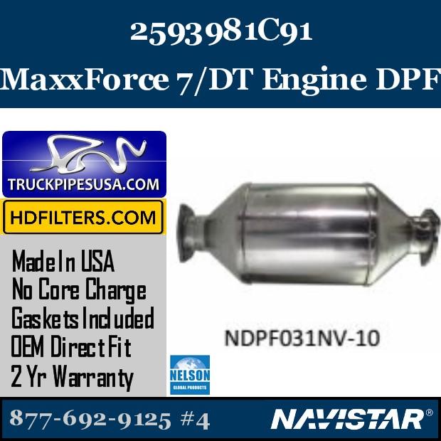 3712647C91 Navistar MaxxForce 9-10 Engine DPF