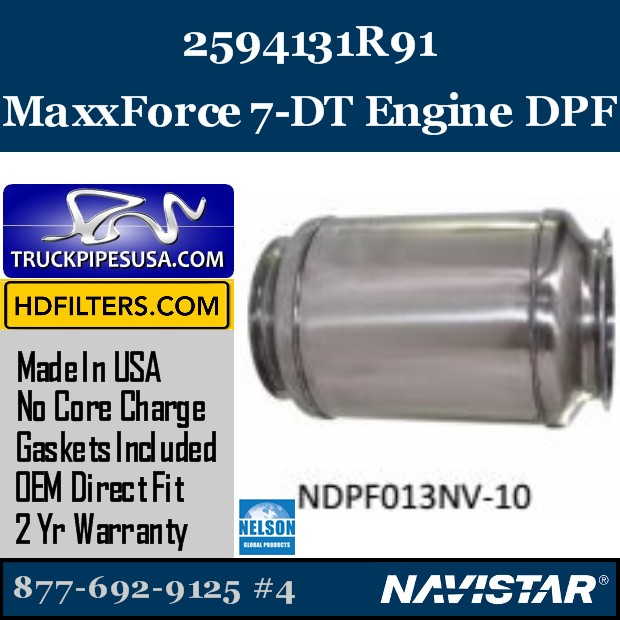 5010843R1 Navistar MaxxForce 9-10 Engine DPF