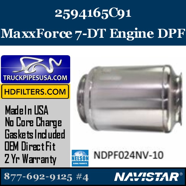 2605039C91  Navistar MaxxForce 9-10 Engine DPF