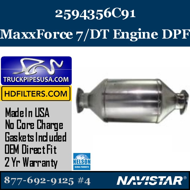 2594165R91 Navistar MaxxForce 7-DT Engine DPF