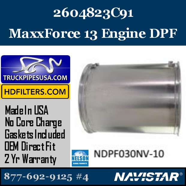 2604870R91 Navistar MaxxForce 9 Engine DPF
