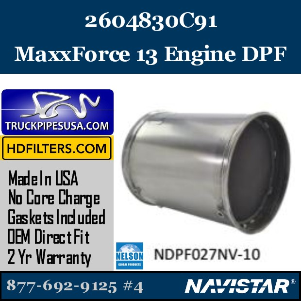 2593981C91 Navistar MaxxForce 7-DT Engine DPF