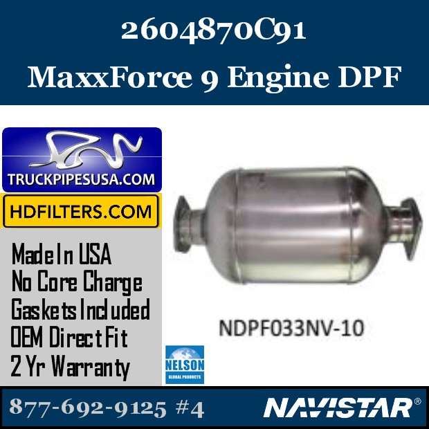 A00383921 Navistar MaxxForce 7-DT Engine DPF
