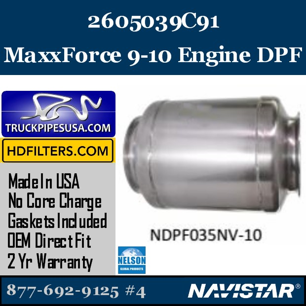 5010836R91 Navistar MaxxForce 7-DT Engine DPF