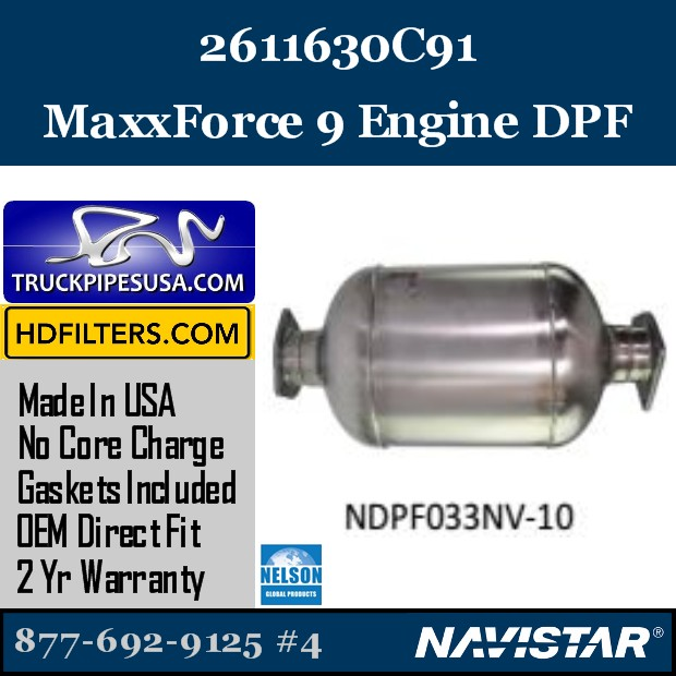 2594022C91 Navistar MaxxForce 7-DT Engine DPF