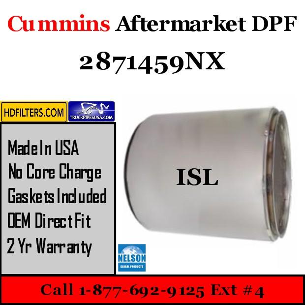 2871459NX Cummins ISL Engine Diesel Particulate Filter DPF