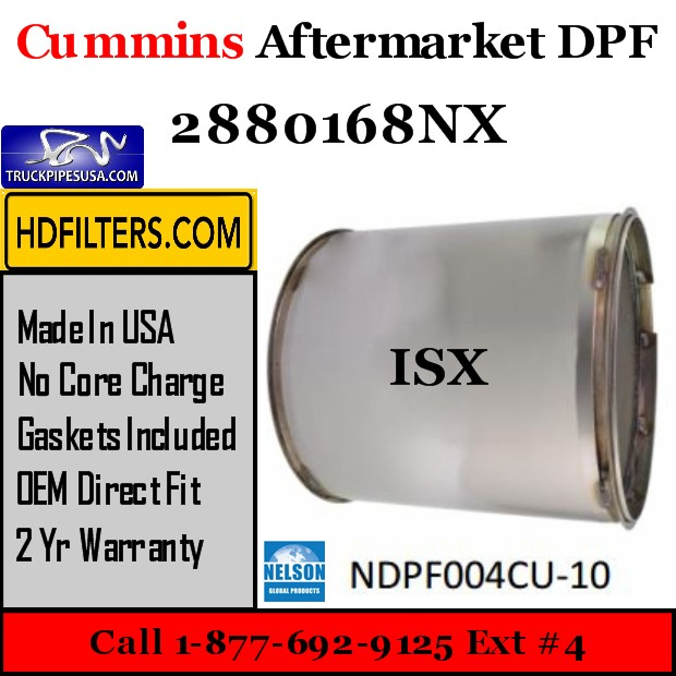 2880168NX Cummins ISX Engine Diesel Particulate Filter DPF