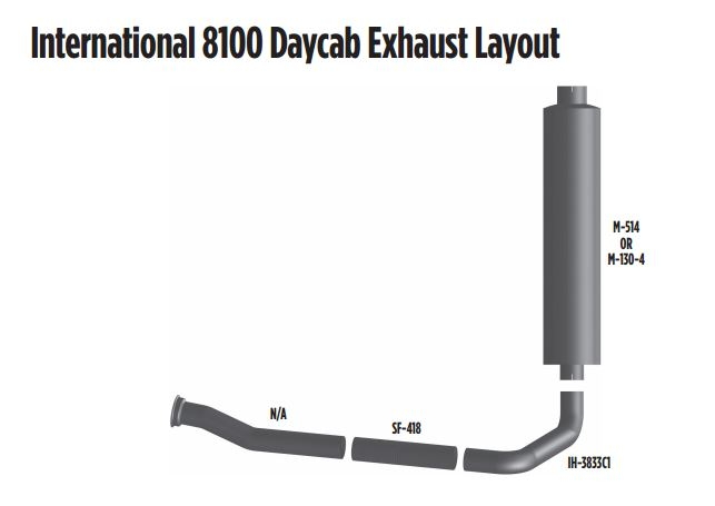 international 8100 daycab exhaust layout
