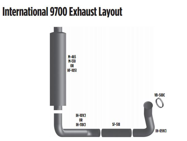 international 9700 exhaust