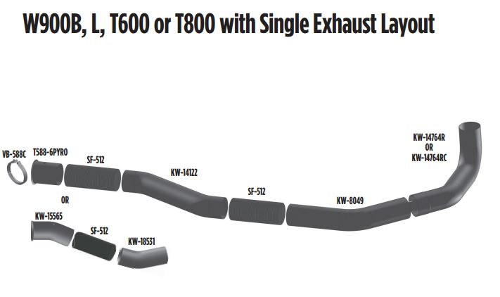 kenworth-w900b single exhaust layout