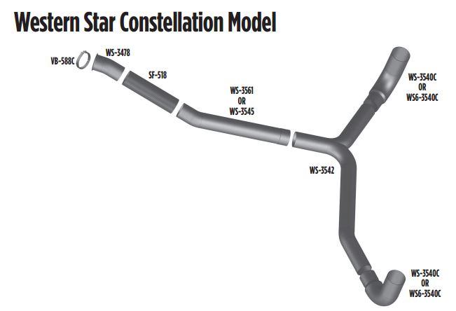 Western Star Constellation Model Exhaust Diagram